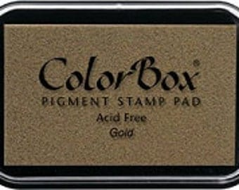 Ink stamp pads Gold Colorbox pigment ink
