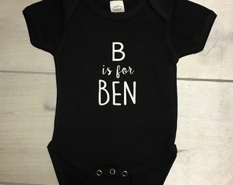 Alphabet name infant bodysuit