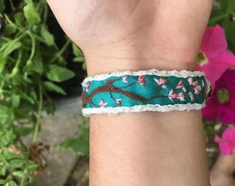 Japanese Cherry Blossom Bracelet