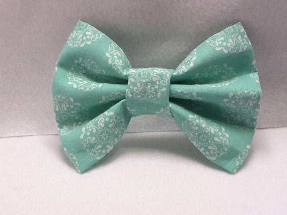 turquoise fabric bow,hair accessories,hair clips