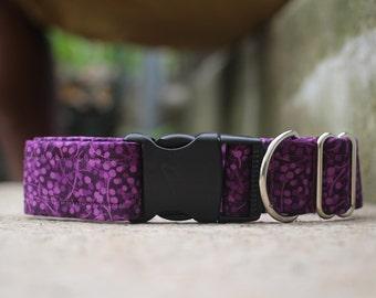Purple Floral Dog Collar