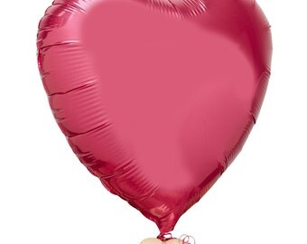 The Flower Rooms - Red Heart Balloon by The Flower Rooms - Add On Item - Send With Your Flowers - Metallic Red Heart Shaped Balloon