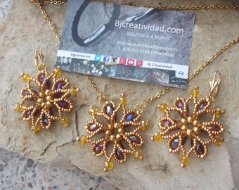 Star of David - Set earrings and necklace