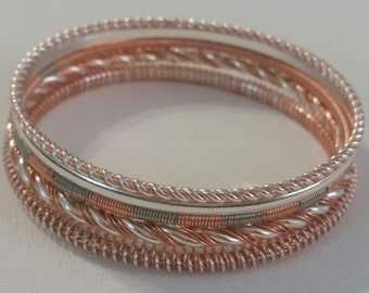 Copper wrapped bangles