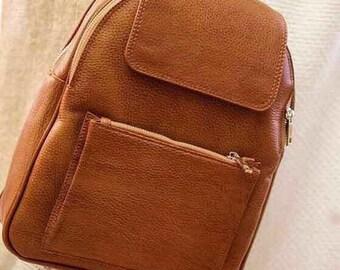Leather Backpack/ Handbag