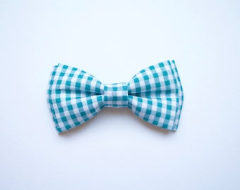 baby boy, toddler, blue gingham bow tie