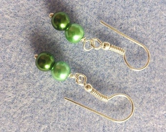 Silver plated earrings to match my mermaid glass pearl bracelet.