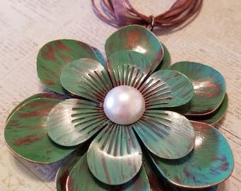 Sale flower ribbon necklace