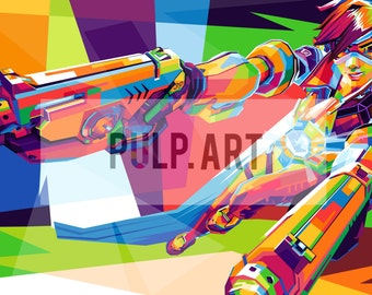 TRACER - Overwatch Canvas Stretched Print