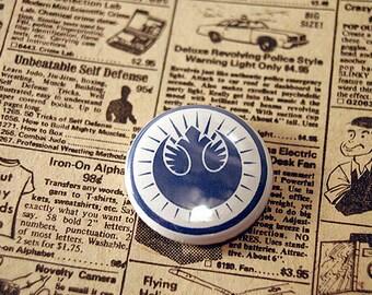 "STAR WARS New REPUBLIC Insignia 1"" pinback button"