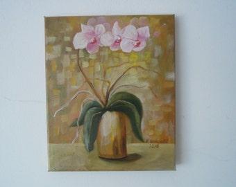 Orchid flower still life