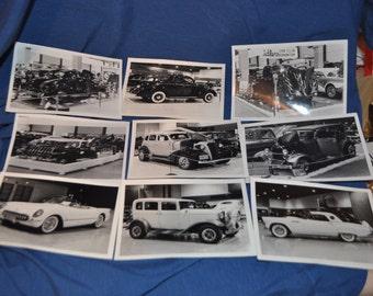 Vintage 5x7 Black & White Classic Car Photos