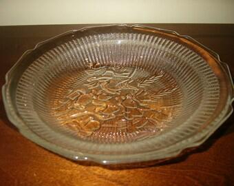 Iris and Herringbone Flat Soup Bowl