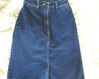 Jordache 70s denim skirt