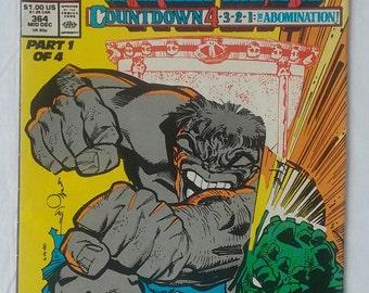 The Incredible Hulk Marvel Comics #364 1989.
