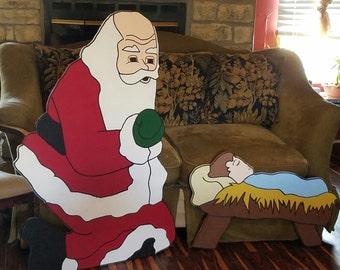 santa and baby set
