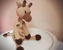 Cuddly Amigurumi Giraffe : Unique giraffe lovey related items Etsy