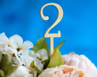 Golden table numbers, Wedding table numbers, Silver wedding table numbers, DIY wedding, Romantic wedding decor, Lasercut wood numbers, TNG-8