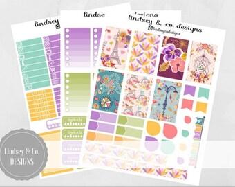 Autumn in Paris - BIG Happy Planner Printable Sticker Kit
