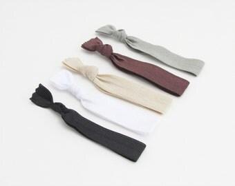 Hair Ties for Men - Neutrals - Hair Ties - Soft Elastic