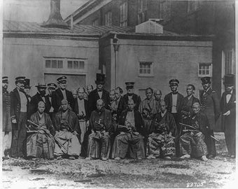 Washington, D. C. Washington Navy Yard. First Japanese treaty commission to the U. S., 1860