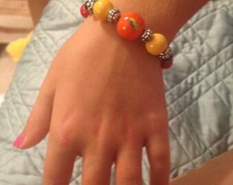 Colorful glass beads bracelet