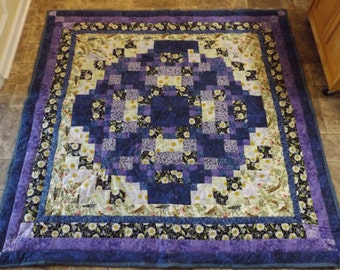 Beautiful Intricate Purple Home Made Quilt