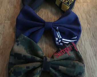 Corner Picture Bow - Military Bow - Handmade Bow - Hair Accessories - Hair Bow