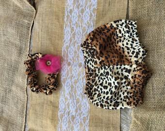 Cheetah Bloomer and Bow Set