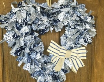 Nautical Heart Wreath