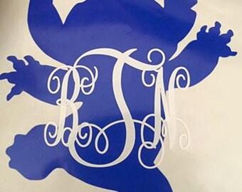 Stitch Monogram Decal | Disney Stitch | Personalized Decal | Monogram | Yeti Cup Decal | Car Window Decal | Laptop Sticker |