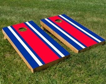 Classic Stripe - Red, White, Blue Cornhole Board Set