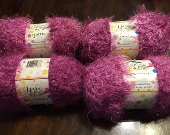 Yarn Bee Playful Pink Fuzzy Yarn