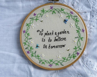Items Similar To Chalkboard To Plant A Garden Is To Believe In Tomorrow Quote Illustration Art