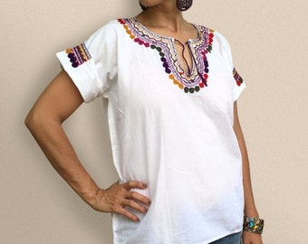 Multicolored Neck Blouse