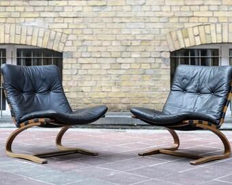 2 x Kengu lounge chair Oddvin Rykken Rybo vintage design chair