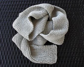 Grey Scarf, Organic Cotton Scarf, Soft Sea Mist, Vegan Organic Cotton, Made in USA