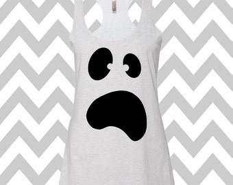 Ghost Tank Top Halloween Funny Halloween Tank Top Halloween Party Tank  Halloween Costume Tee Cute Halloween Ghost Top Boo Scary Ghost