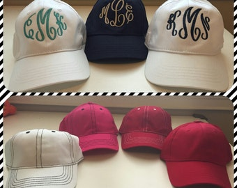 Monogrammed ball caps
