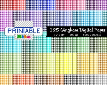 Gingham Digital Paper  Gingham Background  Commercial Use  Seamless Pattern  Scrapbooking Paper  Printable Paper  Instant Download