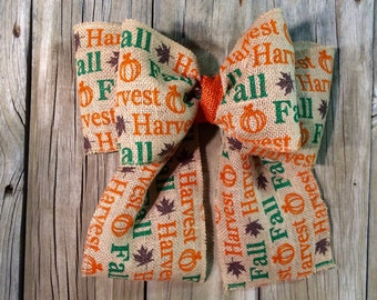 Fall bow, bow, burlap bow, contact for shipping