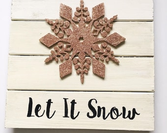 halloween gallery wall decor hallowen walljpg let it snow wood sign glittered snowflake sign rustic christmas decor