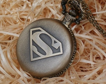 Superman Bronze Pocket Watch Gift Set
