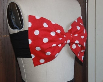 Minnie Mouse Bow Bandeau Halloween Costume