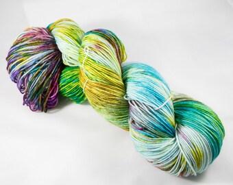 """Chic Sock Yarn- """"Beachy""""  Handpainted Superwash Merino - 463 Yards"""