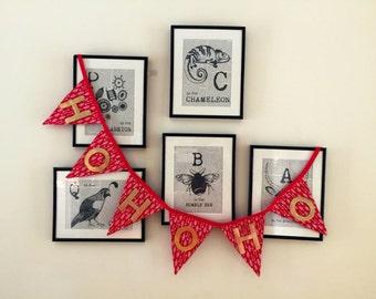 Christmas banner / Fabric bunting / Holidays decorations / Christmas decorations / Christmas gifts