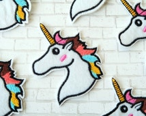 Unicorn Iron on Patch perfect for jackets, shoes, backpack - Cute Embroidered patch - Christmas Gift