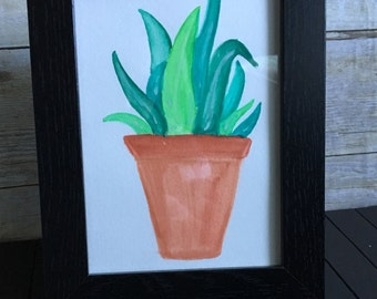 Leafy green 5x7 watercolor