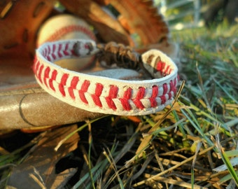 Baseball Bracelet, Leather Baseball Bracelet, Baseball bracelet for men, Baseball bracelet for boy, mom Baseball bracelet