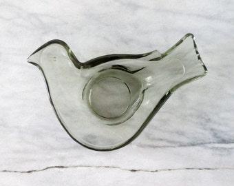 Vintage Glass Bird Ring Dish, Jewelry Dish Holder, Home Decor, Scandinavian Modern, Unique Ring Dish, Jewelry Dish, Ring Holder, Soap Dish